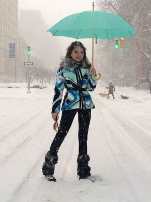 Times Square Gossip: JEAN SHAFIROFF IN SNOWSTORM 2016 FASHION
