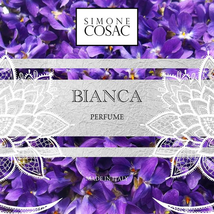 BIANCA one of the new Perfumes of Simone Cosac.