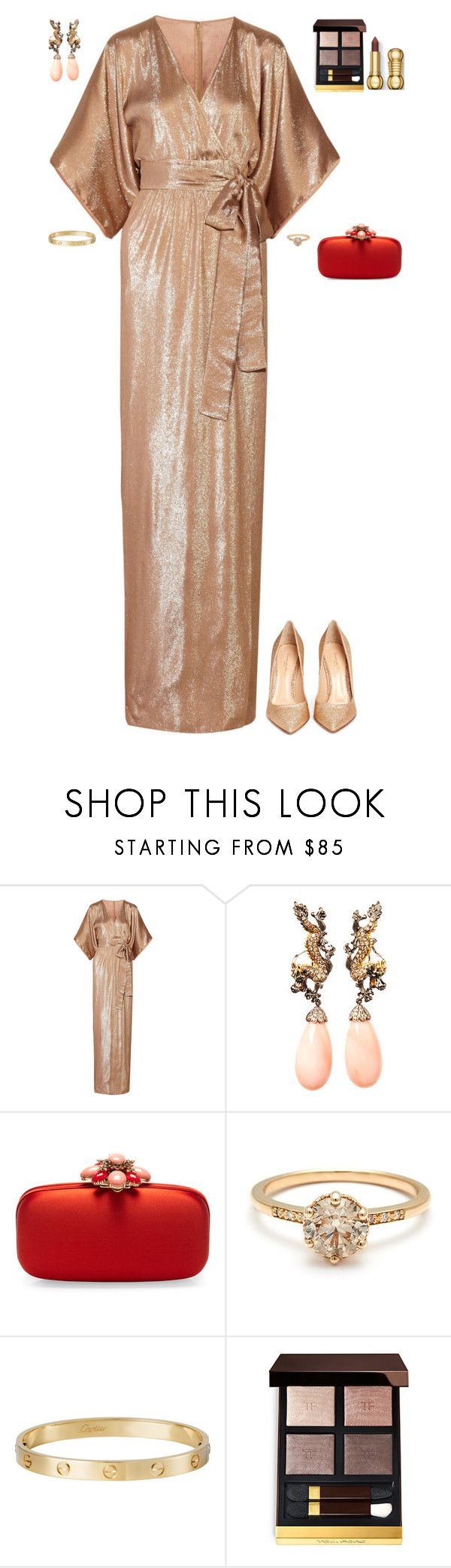 """""""Party in Miami Beach"""" by stylev ❤ liked on Polyvore featuring Gucci, Lydia Courteille, Oscar de la Renta, Cartier, Tom Ford and Gianvito Rossi"""