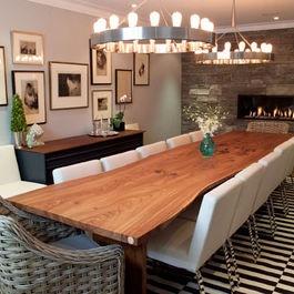 Black And Natural Wood Dining Set