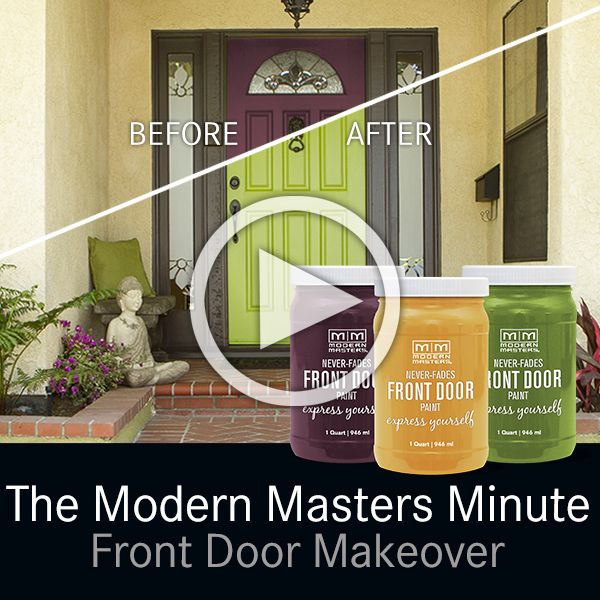 Front Door Makeover | The Modern Masters Minute Video On The Cafe Blog