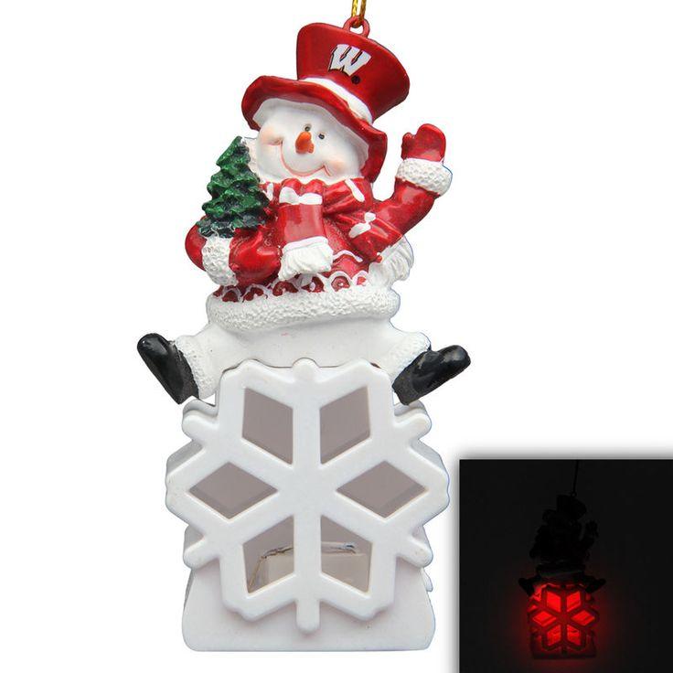 NCAA Wooden Cheering Snowman Ornament
