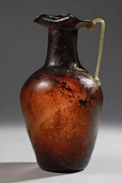 Roman Aubergine Blown Glass Jug | 1st Century AD | Price $18,000.00 | Roman | Glass | Vessels | eTiquities by Phoenix Ancient Art