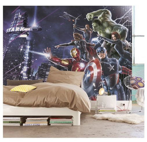 Avengers Citynight Photo Wall Mural 254 x 184cm - Transform your room with this maxi wall mural
