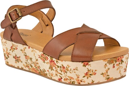 Bass Ophelia - Cognac Atanado Leather/Floral Wedge: Floral Wedges, Atanado Floral Wedge, Bass Floral, Cognac Atanado, Ophelia Cognac, Bass Ophelia, Ophelia Wedge, Wedge Sandals Amazon Shoes
