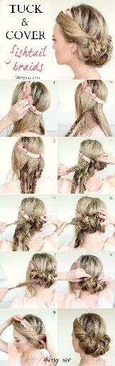 Updo using a headband