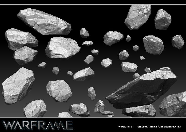 ArtStation - Rock Rubble Sculpt - Warframe, Jesse Carpenter