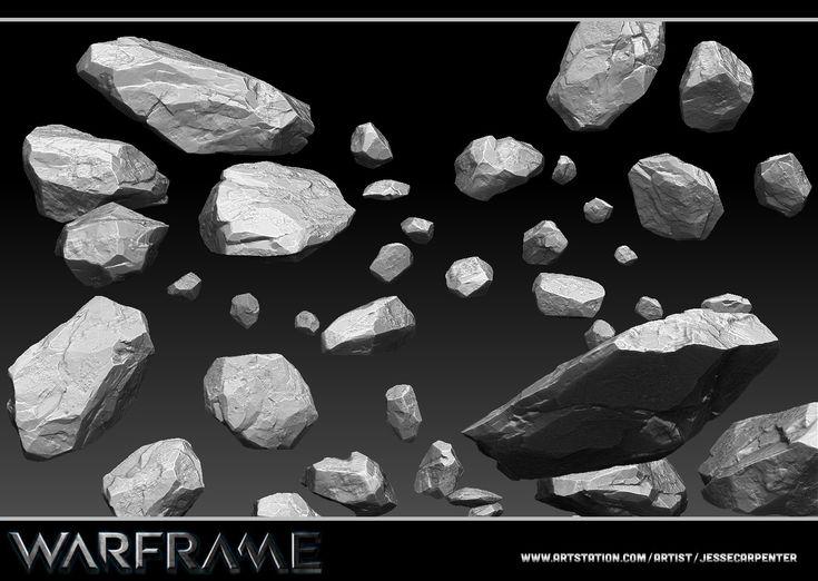 ArtStation - Rock Rubble Sculpt - Warframe, Jesse Carpenter