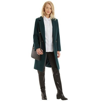 OASIS Alex seamed db coat- | Debenhams