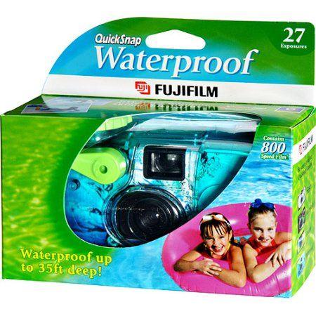 Fujifilm Quick Snap Waterproof Disposable Camera with 27 Exposures - Walmart.com THEY GOT WATERPROOF TOO GUYS.