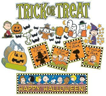 "9 Pack EUREKA PEANUTS HALLOWEEN MINI BB SET by Eureka. $70.61. Each set contains 8 panels packaged in a polybag with a header. Total package size is 6.5"" wide x 26"" long. Includes: 36 Die-Cut Illustrations, 36 Paper Cut-Outs and 2 Banners (Partial Set Shown)"