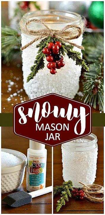 DecoArt Blog   Crafts   Snowy Mason Jar More