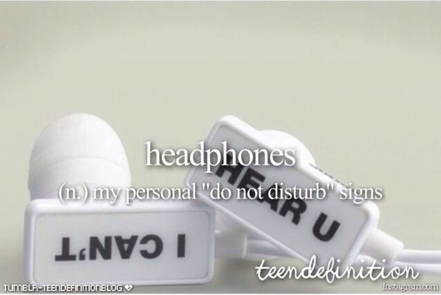 ♡ Listening to music with headphones on right now ♡