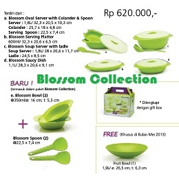 Tupperware Indonesia Blossom Collection Nama Produk: Blossom Collection Harga Produk: Rp. 620,000,- Kategori: Katalog Tupperware Indonesia Promosi Mei 2013