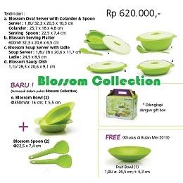 Tupperware Indonesia Blossom Collection Nama Produk: Blossom Collection Harga Produk: Rp. 620,000,- Kategori: Katalog Tupperware Indonesia Promosi Mei 2013