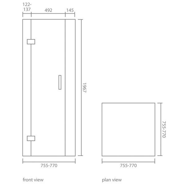Crystal Corner Shower Enclosure Set | Shower Enclosures | CP Hart