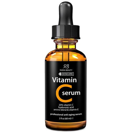 Radha Beauty's serum uses Vitamin C to reduce dark spots and even out your complexion....And other amazing face serums!