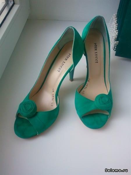 Зеленые туфли италия