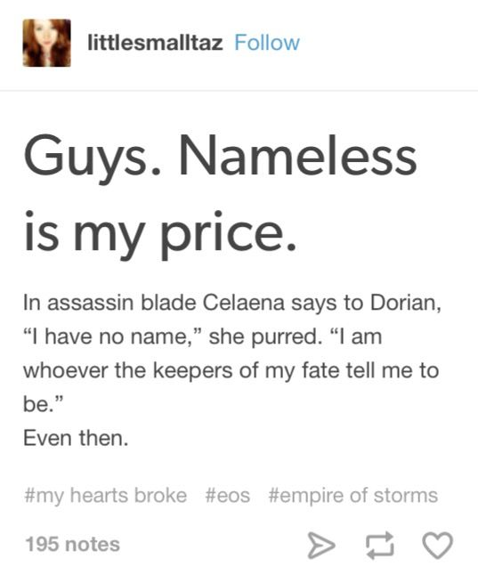 "EOS spoilers  When I read the ""nameless is my price"" part in EoS I started crying"