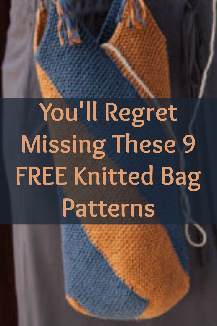 You'll LOVE knitting these 9 FREE knitted bag patterns including small purses, everyday bags and beach bags! #knitting #knittedbags #knittingpatterns