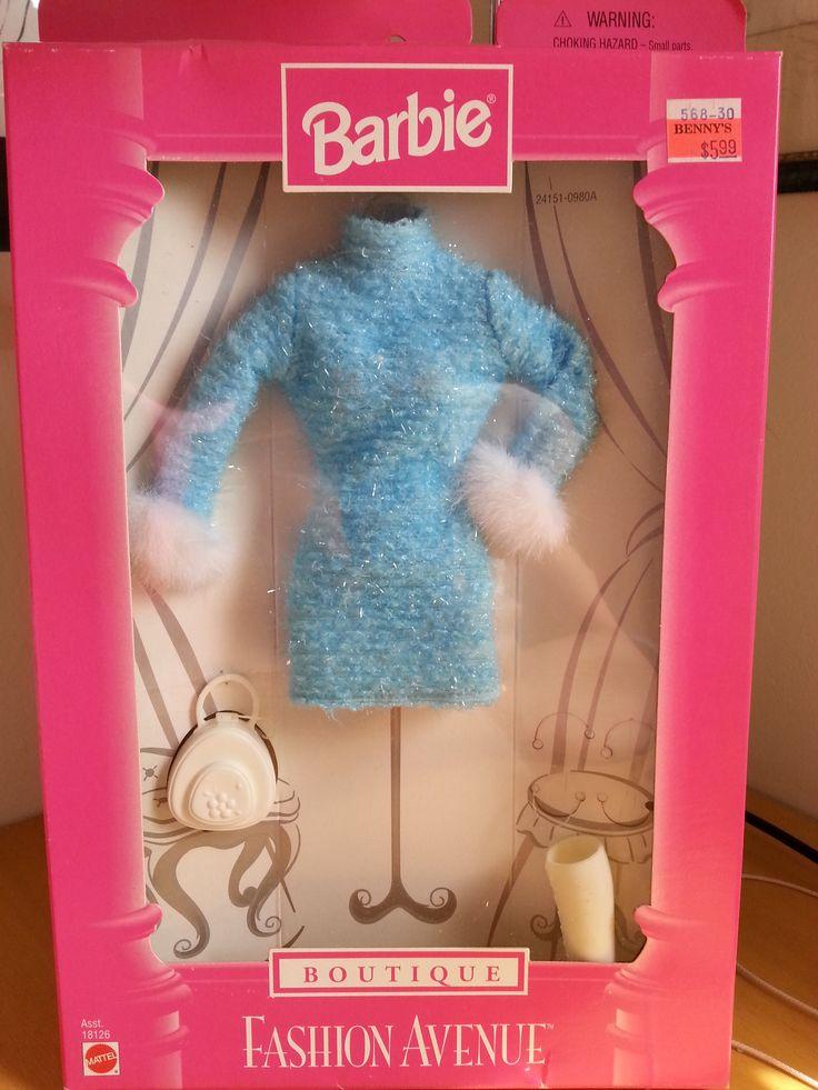 Gorgeous Barbie Fashion Avenue Blue Outfit 1998 Barbie
