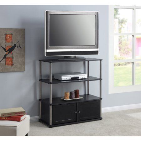 Designs 2 Go High Boy TV Stand in Black, for TVs up to 37 inch by Convenience Concepts