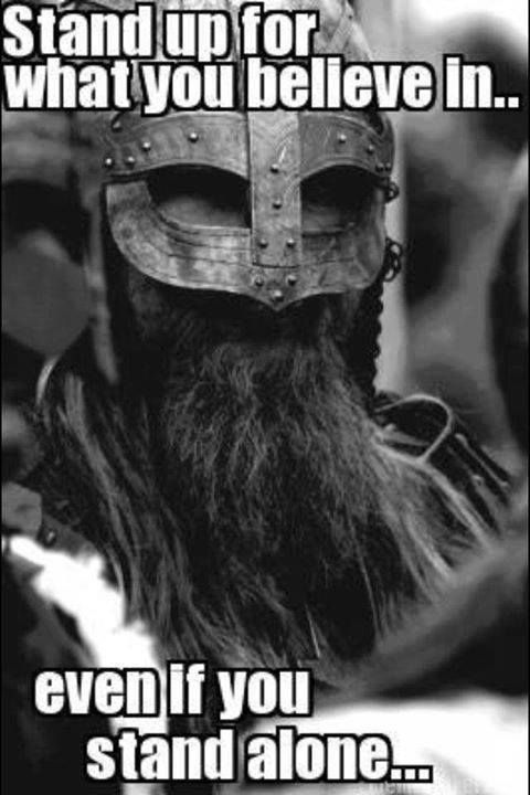 Be brave enough to #vikings #norse #quotes