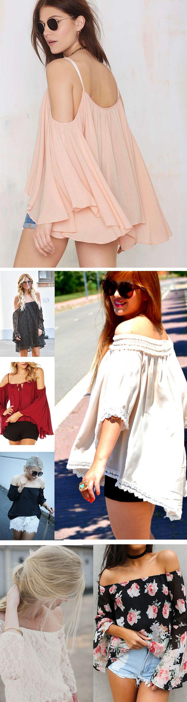 GIVE 'EM THE 'COLD SHOULDER' ;-) ~ Off The Shoulder Blouse,Occasion Wear !!