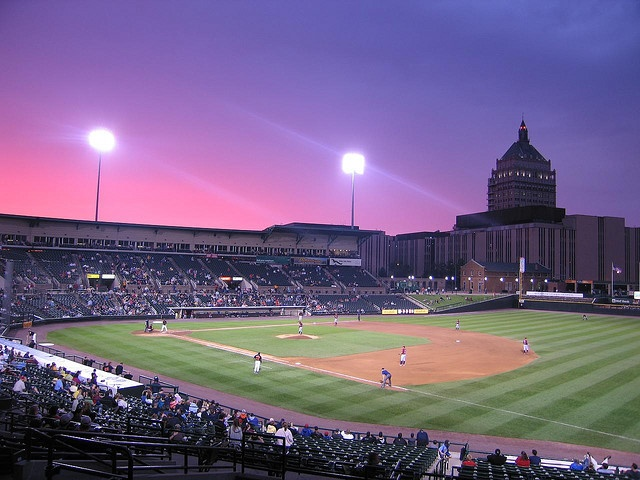 Sunset @ Frontier Field    Rochester Red Wings Baseball, Rochester, NY