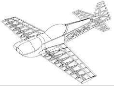Free Balsa Model Airplane Plans   How to make RC Airplanes: Drawings model aircraft CAP 232 from balsa
