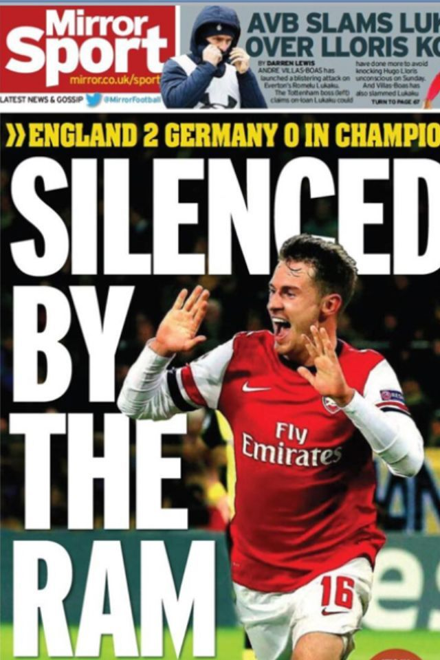 england 2 beat Germany 0