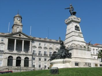 PALÁCIO DA BOLSA (Stock Exchange Palace) in Porto, Portugal (neoclassical façade 19th century)