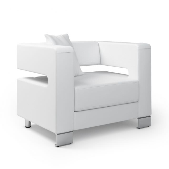 White Modern Armchair 018 Am92 3d Model Modern Armchair Armchair Furniture