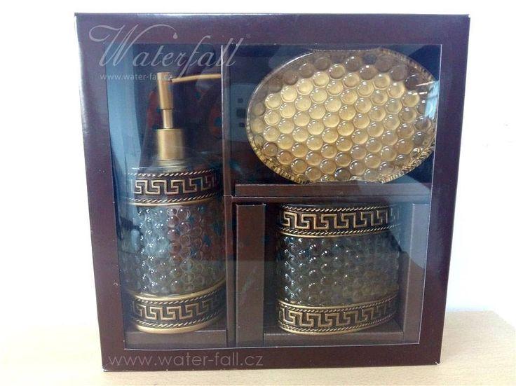 zlat bronzov koupelnov doplky gold bronze bathroom accessories dispenser