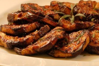 Honey garlic grilled eggplant by Thato