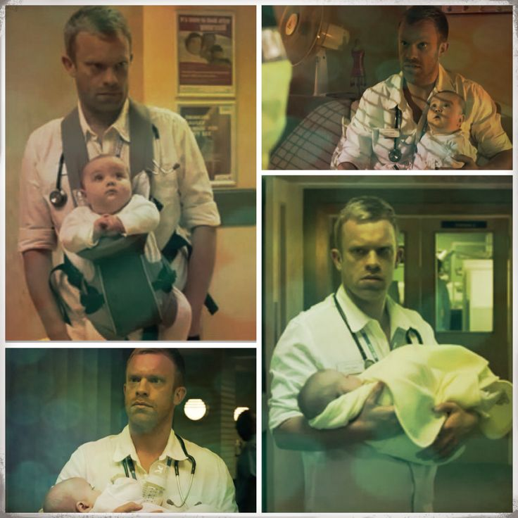 Dylan Keogh in Casualty. I wish I knew which episode this was from!