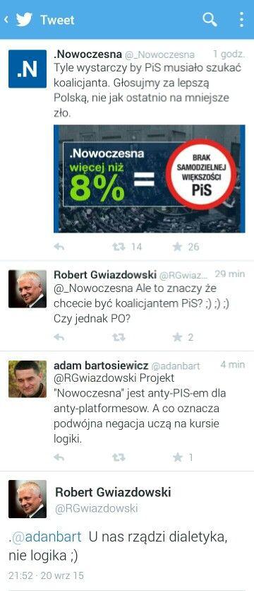 Nowoczesna vs Gwiazdowski