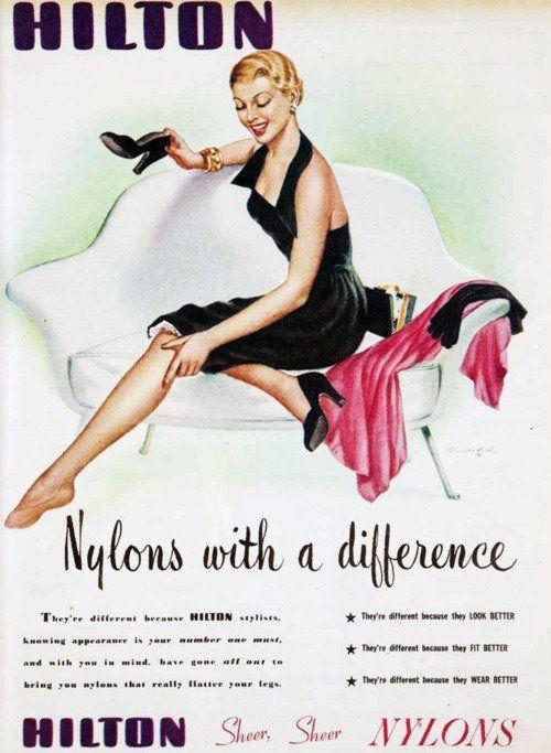 nylon stockings hosiery 60s