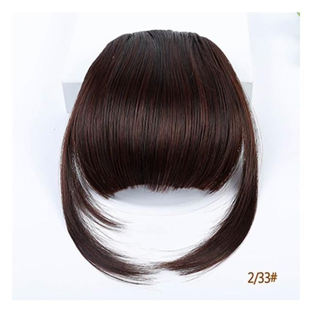 Lupu Women S Bangs Synthetic Hair Short Hair Clips Natural Black Solid Color In 2021 Hairstyles With Bangs Bangs Extensions Clip In Hair Extensions