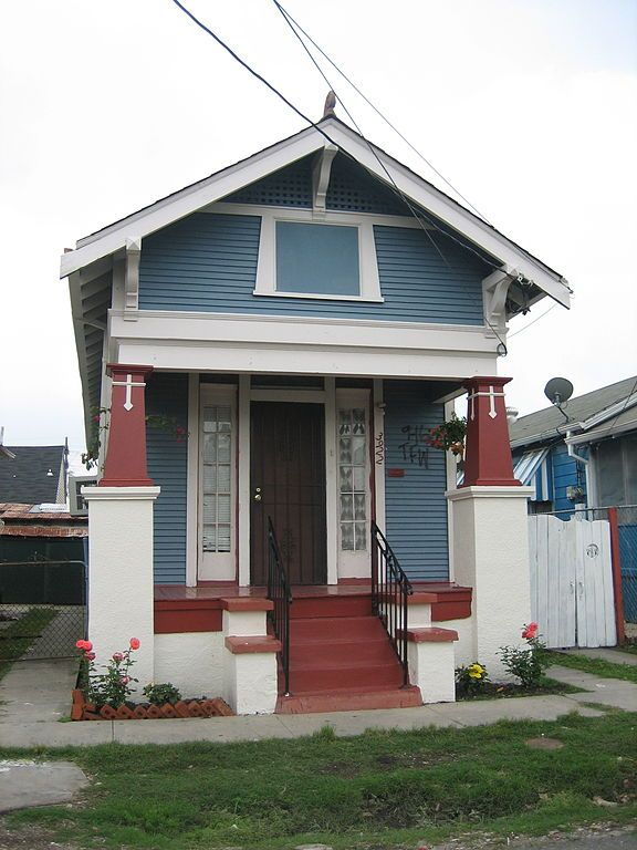 "A classic ""Shotgun"" style house in Marigny neighborhood"