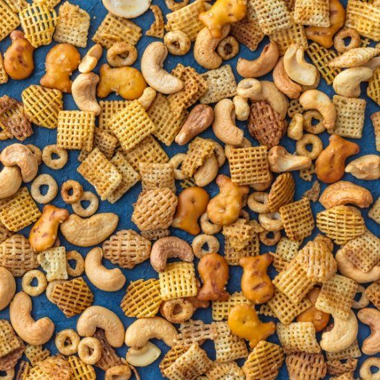 BEST EVER CHEX PARTY MIX is the ultimate holiday appetizer! Our family has this PERFECT cereal party mix in bulk every Christmas.