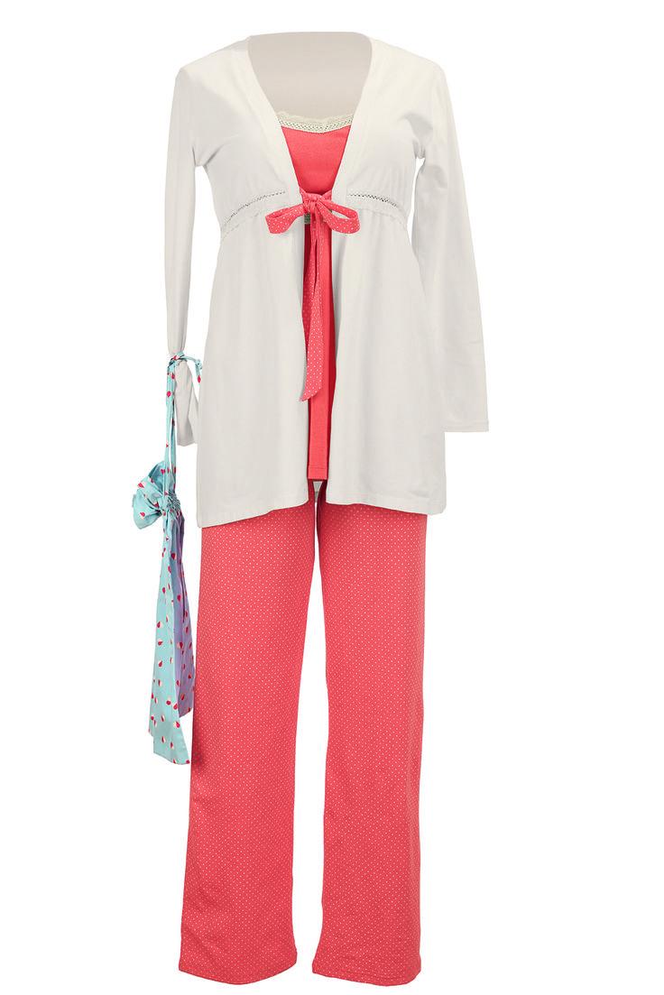 NUEVO Pijama Set maternal 4 piezas Orange (ENERO 2015) [1245] - 99,95€ : Tienda premamá online. Moda prenatal para embarazadas y ropa interior para embarazo y lactancia., Demamis.com