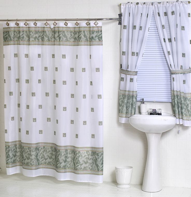 Window And Shower Curtain Sets