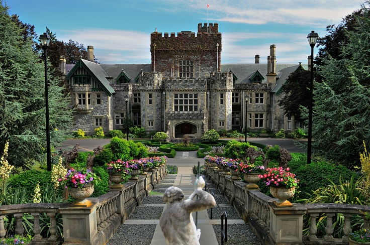 Hatley Castle ( BC Canada) c 1906  for British Columbia's Lt. Gov. James Dunsmuir, at the Royal Roads University, serves as its administration building.. Fans of the Smallville TV show may recognize it as the fictional mansion home of Lex Luthor. It was also used in the X-Men movie trilogy as Professor Xavier's Mansion. I wonder if he knew the previous owner was a super villain.