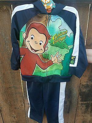 Curious George 2 Piece Toddler Track Suit Jacket Pants Athletic 24 Months