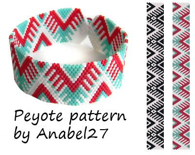2 peyote patterns bead patterns peyote por ColorfulBeadPatterns