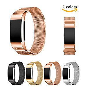 "Chok Idea Fitbit Charge 2 Strap Band Replacement,Magnet Lock Milanese Loop Stainless Steel Bracelet Strap Band for Fitbit Charge 2 (6.1""-8.4"") - Rose Gold: Amazon.co.uk: Sports & Outdoors"