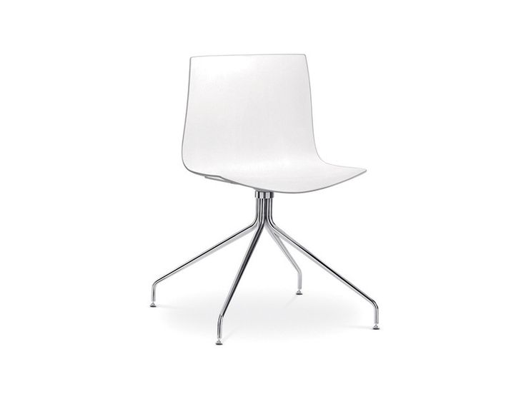 The Arper Catifa 46 Chair on swivelling trestle base is the perfect contemporary office chair.