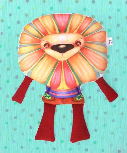 Muñeco Leon - Lion doll de JessicaIlustradora en Etsy