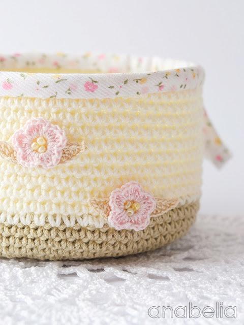 Crochet basket by Anabelia